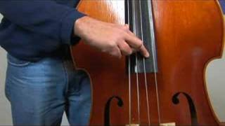 Upright Bass for Beginners : Playing Upright Bass Pizzicato With Fingers