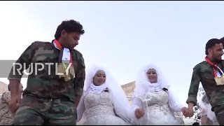 Syria: 30 Happy Couples Tie The Knot In Mass Aleppo Wedding