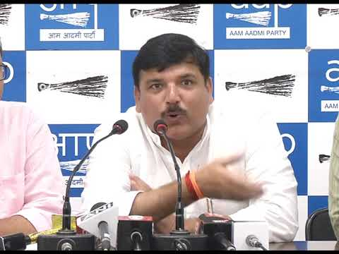AAP Press Brief by Rajya Sabha Member Sanjay Singh on RTI