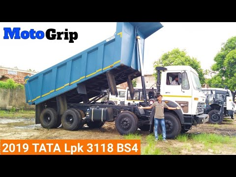 Tata Lpk 3118 BS4 Tipper Review 🔥|2019 Tata 3118 features and price| #Motogrip