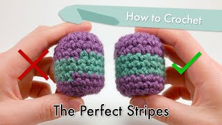 How to Crochet The Perfect Stripes