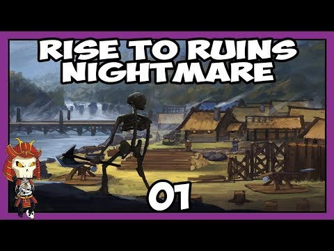 RISE TO RUINS Nightmare 01   Village Setup   Let's Play Rise to Ruins
