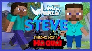 TRƯỜNG HỌC MA QUÁI: -tập 16- 1 ngày làm Steve   Nếu đồ vật của game minecraft có trong mini world