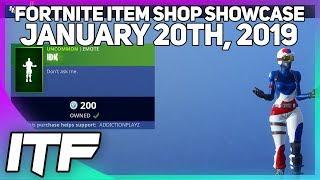Fortnite Item Shop *NEW* IDK EMOTE [January 20th, 2019] (Fortnite Battle Royale)