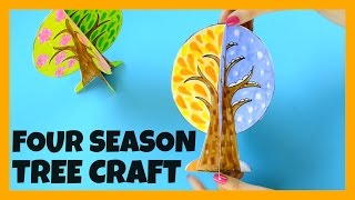 Four Seasons Tree Craft With Template - Paper Crafts Ideas