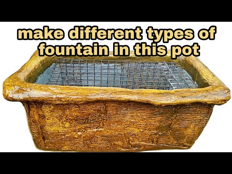How to make cemented fountain pot