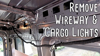Remove The Wireway & Cargo Lights - Ford Transit