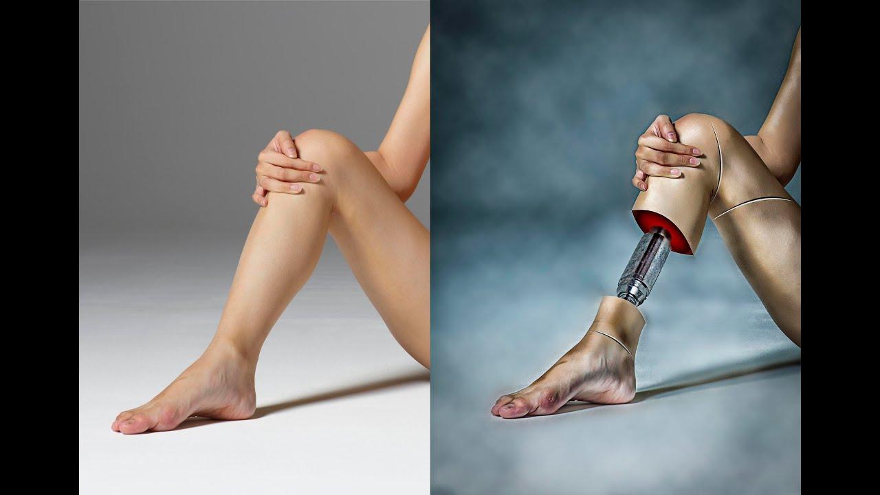 How to Photoshop Manipulation Tutorial of leg Photo
