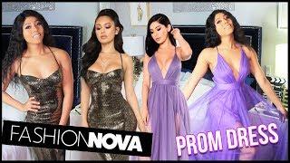TRYING ON FASHION NOVA PROM DRESSES 2020
