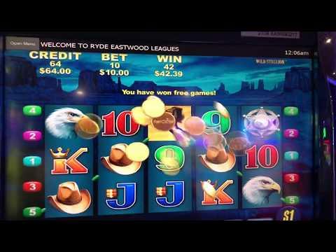 $300 Feature Wild Stallion Pokies Win 4 Hats