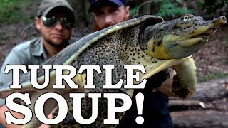 Catch and Cook {Clean} SOFTSHELL TURTLE! Ep07   100% WILD Food SURVIVAL Challenge!