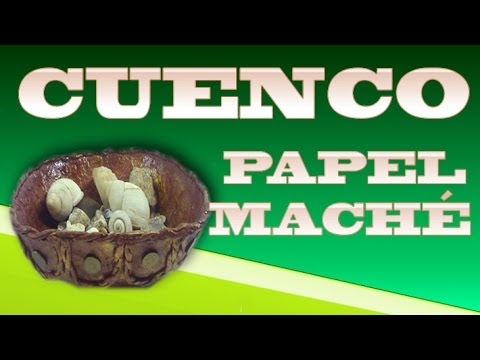 CUENCO CON PAPEL MACHÉ