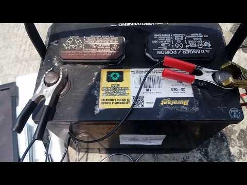 panel solar duralast 12v prueba en bateria automotriz