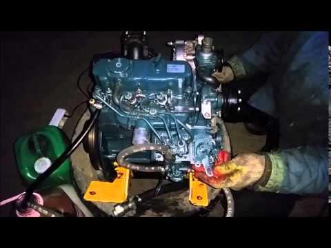 пуск двигателя Kubota D722