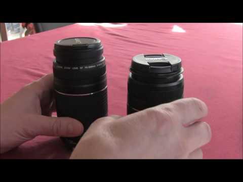 Canon Vergleich/Unterschiede Objektive EF und EF-S für DSLR Kamera