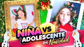 NIÑA V.S ADOLESCENTE: VERSIÓN NAVIDAD!! Ft. Karina & Marina || Bianki Place ♡