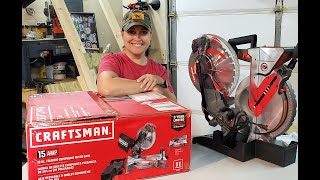 Craftsman 10in FOLDING Compound Miter Saw Unboxing