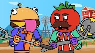 Tomato & Burger Explore Frenzy Farm (Fortnite Animation Compilation)