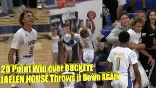 JAELEN HOUSE Throws it Down AGAIN in 20 Point Win over BUCKEYE