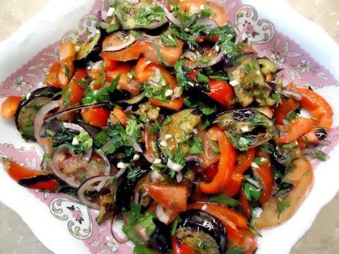 Салат из баклажанов. Салат с жареными баклажанами