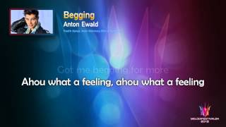 "Anton Ewald ""Begging"" -- (On screen Lyrics)"