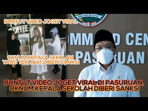 Buntut Video Joget Viral di Pasuruan, Oknum Kepala Sekolah Diberi Sanksi