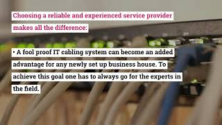 How IT Cabling Became the Vital Part of Every Business Establishment?
