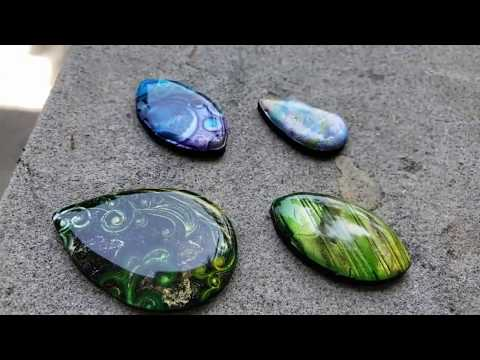 Resin and Clay Cabochons