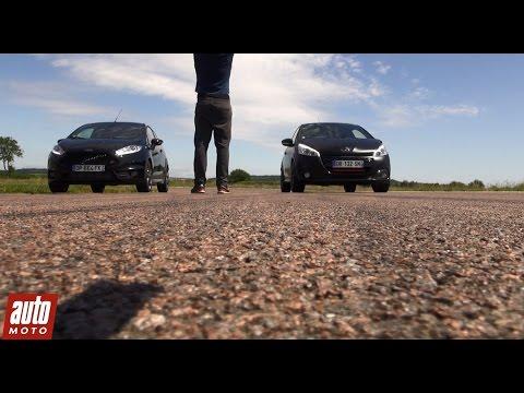 2015 Peugeot 208 GTi vs Ford Fiesta ST : 200m départ arrêté - Spécial GTi