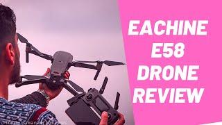 Eachine E58 Drone Review | 720P | Folding FPV Camera Drone | Banggood