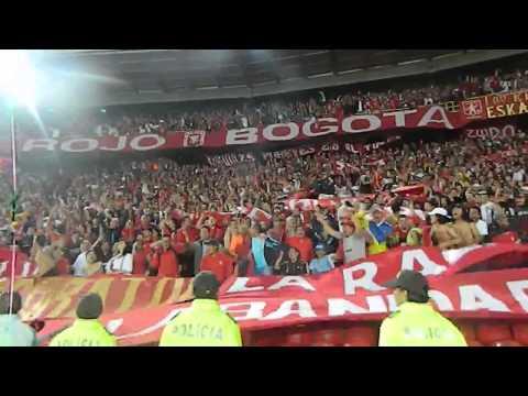 """""""Disturbio Rojo Bogota - Una vez más - MANCHESTER UNITED -AMERICA DE COLOMBIA -RED DEVILS"""" Barra: Disturbio Rojo Bogotá • Club: América de Cáli"""