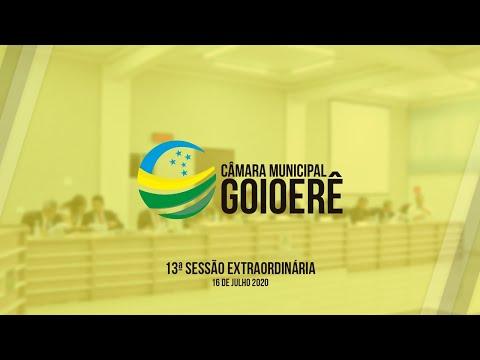 13ª Sessão Extraordinária | 2020