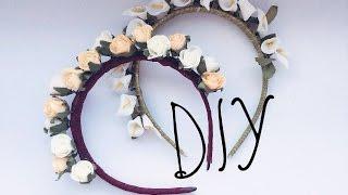 DIY: Ободок из цветов| Своими руками| How to make headband