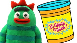 Yo Gabba Gabba STOP MOTION Play doh video --- Nesting Doll Toys Animation