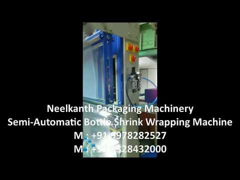 Semi-Automatic Bottle Shrink Wrapping Machine