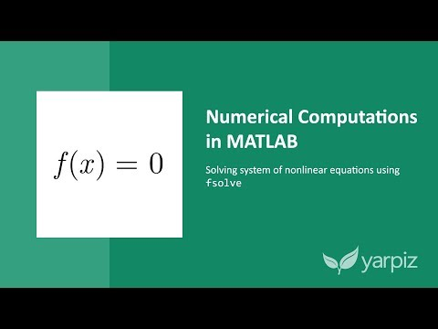 Download Non Linear Equations In Matlab Fsolve Multiple Equations