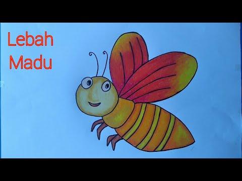 Video Diy Cara Menggambar Lebah Mewarnai Dengan Gradasi Crayon
