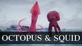 Skyrim Mods - Giant Cephalopods   Mihail Monsters and Animals - Octopus & Squid