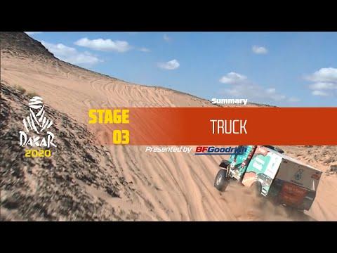 【ダカールラリーハイライト動画】ステージ3 トラック部門のハイライト