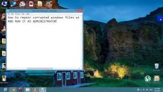 How to fix missing files in windows 7