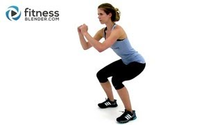5 Minutes to Slim HIIT Cardio Workout - Fitness Blender HIIT Workout for Fat Loss by FitnessBlender