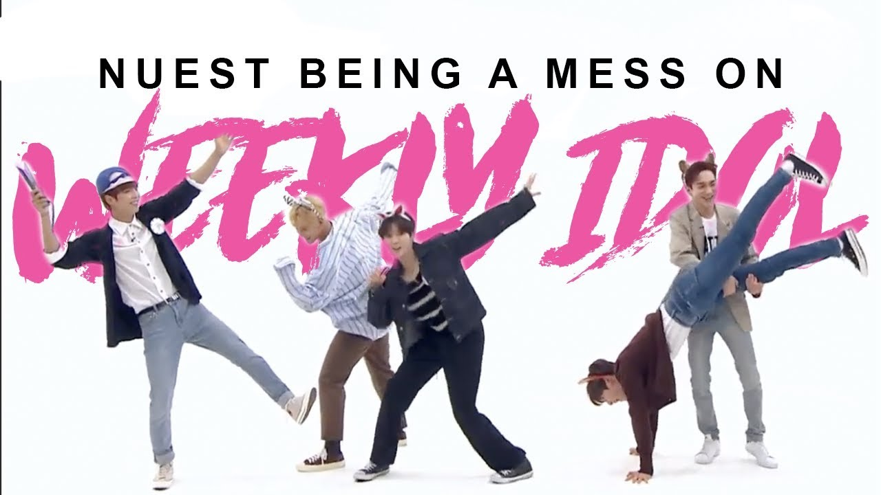 nuest being a mess on weekly idol for 8 minutes straight