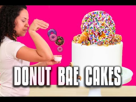How To Be The Salt Bae of Donuts - Make MEGA DONUT CAKES for National Donut Day!