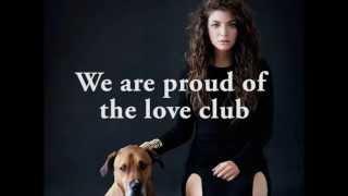 "Video thumbnail of ""Lorde - The Love Club (lyric video)"""
