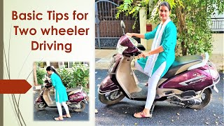 Two Wheeler driving for beginners   How to Learn Two Wheeler driving in Tamil   JasmineJohn Vlogs