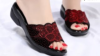 FASHION FOOTWEAR DESIGN SANDAL SHOES COLLECTION FOR LADIES NEW LATEST STYLISH SLIPPERS