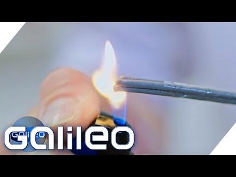 So brennt eine Wunderkerze unter Wasser   Galileo   ProSieben