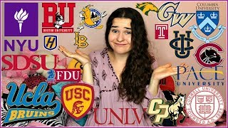 I APPLIED TO 19 COLLEGES!! (And was Accepted To...)