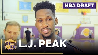 The Lakers worked out NBA draft prospect LJ Peak