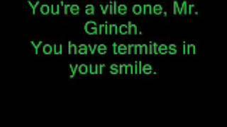 Mr. Grinch Lyrics performed by Thurl Ravenscroft